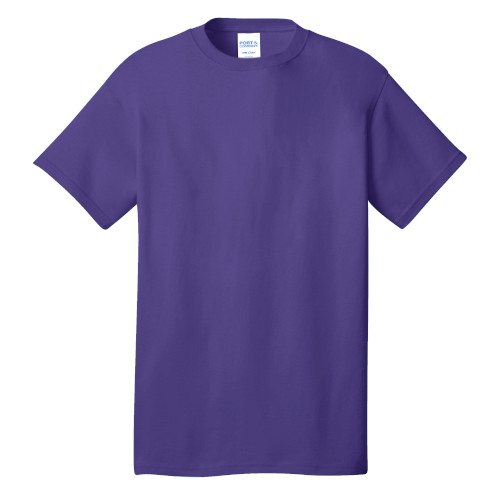 Purple Port & Company 5.4-oz 100% Cotton T-Shirt as seen from the front