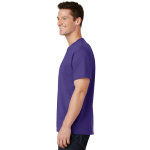 Purple Port & Company 5.4-oz 100% Cotton T-Shirt as seen from the sleeveleft