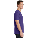 Purple Port & Company 5.4-oz 100% Cotton T-Shirt as seen from the sleeveright