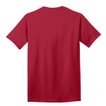 Red Port & Company 5.4-oz 100% Cotton T-Shirt as seen from the back