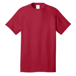 Red Port & Company 5.4-oz 100% Cotton T-Shirt as seen from the front