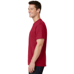 Red Port & Company 5.4-oz 100% Cotton T-Shirt as seen from the sleeveleft