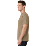 Sand Port & Company 5.4-oz 100% Cotton T-Shirt as seen from the sleeveleft