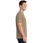 Sand Port & Company 5.4-oz 100% Cotton T-Shirt as seen from the sleeveright