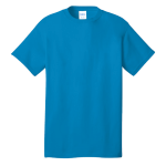 Sapphire Port & Company 5.4-oz 100% Cotton T-Shirt as seen from the front