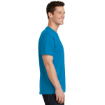 Sapphire Port & Company 5.4-oz 100% Cotton T-Shirt as seen from the sleeveright