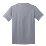 Silver Port & Company 5.4-oz 100% Cotton T-Shirt as seen from the back
