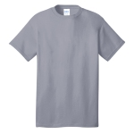 Silver Port & Company 5.4-oz 100% Cotton T-Shirt as seen from the front