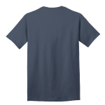 Steel Blue Port & Company 5.4-oz 100% Cotton T-Shirt as seen from the back