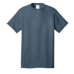 Steel Blue Port & Company 5.4-oz 100% Cotton T-Shirt as seen from the front