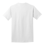 White Port & Company 5.4-oz 100% Cotton T-Shirt as seen from the back