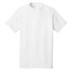 White Port & Company 5.4-oz 100% Cotton T-Shirt as seen from the front