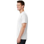 White Port & Company 5.4-oz 100% Cotton T-Shirt as seen from the sleeveleft