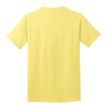 Yellow Port & Company 5.4-oz 100% Cotton T-Shirt as seen from the back