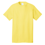 Yellow Port & Company 5.4-oz 100% Cotton T-Shirt as seen from the front