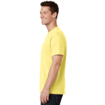 Yellow Port & Company 5.4-oz 100% Cotton T-Shirt as seen from the sleeveleft