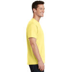 Yellow Port & Company 5.4-oz 100% Cotton T-Shirt as seen from the sleeveright