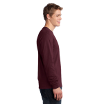 Ath Maroon Port & Company Long Sleeve 5.4-oz. 100% Cotton T-Shirt as seen from the sleeveright