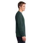 Dark Green Port & Company Long Sleeve 5.4-oz. 100% Cotton T-Shirt as seen from the sleeveright