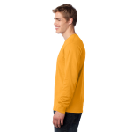 Gold Port & Company Long Sleeve 5.4-oz. 100% Cotton T-Shirt as seen from the sleeveleft