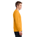 Gold Port & Company Long Sleeve 5.4-oz. 100% Cotton T-Shirt as seen from the sleeveright
