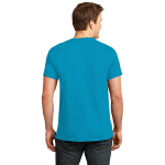 Neon Blue Port & Company 5.4-oz Neon T-Shirt as seen from the back