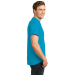 Neon Blue Port & Company 5.4-oz Neon T-Shirt as seen from the sleeveright