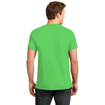 Neon Green Port & Company 5.4-oz Neon T-Shirt as seen from the back