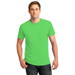 Neon Green Port & Company 5.4-oz Neon T-Shirt as seen from the front