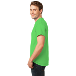 Neon Green Port & Company 5.4-oz Neon T-Shirt as seen from the sleeveleft