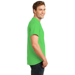 Neon Green Port & Company 5.4-oz Neon T-Shirt as seen from the sleeveright