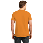 Neon Orange Port & Company 5.4-oz Neon T-Shirt as seen from the back