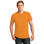 Neon Orange Port & Company 5.4-oz Neon T-Shirt as seen from the front