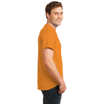 Neon Orange Port & Company 5.4-oz Neon T-Shirt as seen from the sleeveright