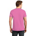 Neon Pink Port & Company 5.4-oz Neon T-Shirt as seen from the back