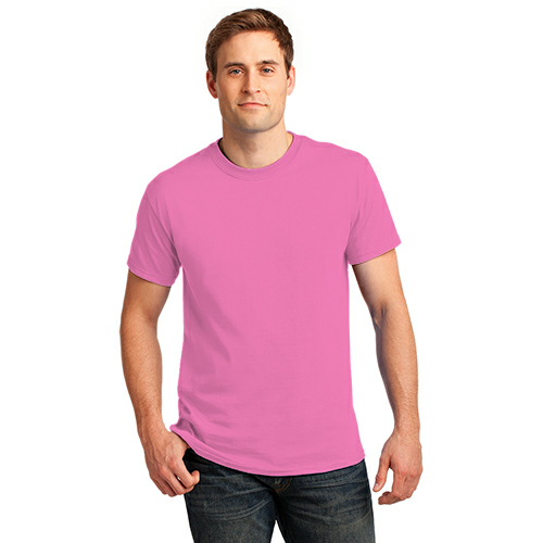 Neon Pink Port & Company 5.4-oz Neon T-Shirt as seen from the front