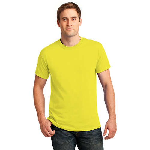 Neon Yellow Port & Company 5.4-oz Neon T-Shirt as seen from the front