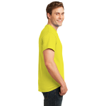 Neon Yellow Port & Company 5.4-oz Neon T-Shirt as seen from the sleeveright