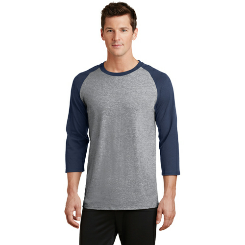 Port & Company 50/50 Cotton/Poly 3/4-Sleeve Raglan T-Shirt