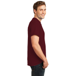 Ath. Maroon Port & Company Essential T-Shirt as seen from the sleeveright