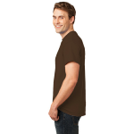 Brown Port & Company Essential T-Shirt as seen from the sleeveleft