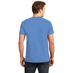 Carolina Blue Port & Company Essential T-Shirt as seen from the back