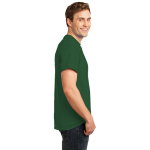 Dark Green Port & Company Essential T-Shirt as seen from the sleeveright