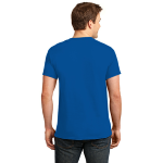 Deep Marine Port & Company Essential T-Shirt as seen from the back