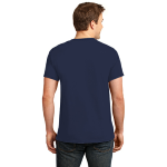 Deep Navy Port & Company Essential T-Shirt as seen from the back