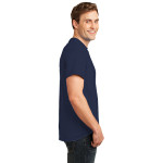 Deep Navy Port & Company Essential T-Shirt as seen from the sleeveright
