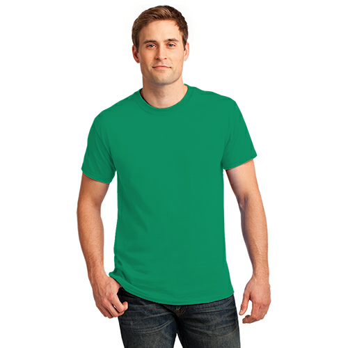 Jade Green Port & Company Essential T-Shirt as seen from the front