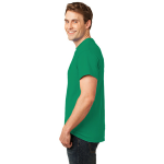 Jade Green Port & Company Essential T-Shirt as seen from the sleeveleft