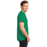 Jade Green Port & Company Essential T-Shirt as seen from the sleeveright