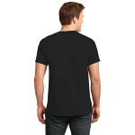 Jet Black Port & Company Essential T-Shirt as seen from the back
